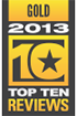 TopTenReviews.com 2013 Gold